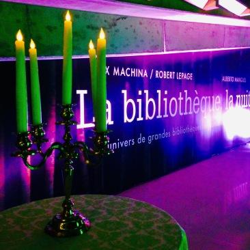 Le lancement de l'exposition La bibliothèque, la nuit, le 26 octobre 2015